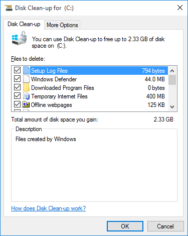 How to Free Disk Space with System File Disk Cleanup